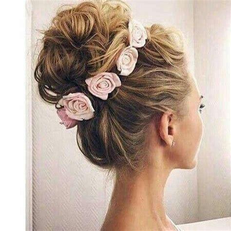 high bun wedding ideas  pinterest high updo