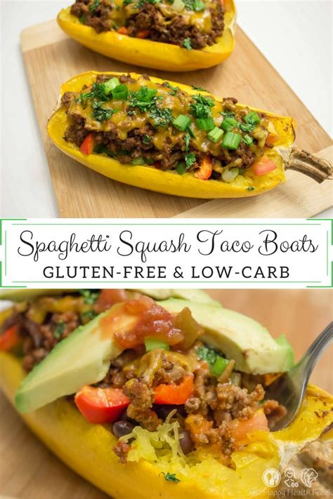 Taco Boats Spaghetti Squash by 52 Best Images About Low Carb Keto Lunch Dinner On