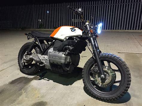 Modified Bmw K100 by Details About Bmw Custom K75 Scrambler Brat Bike Flat