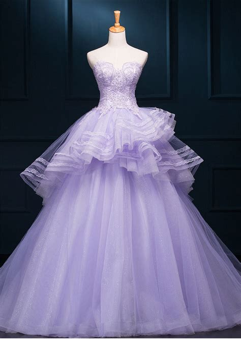 ball gown layered embroidery floor length wedding dresses