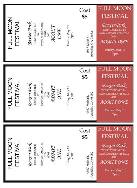ticket templates psd ai word