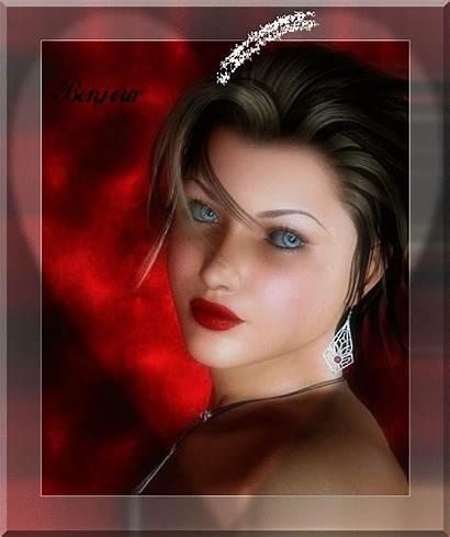 Femme Bonjour Coeur Avec Belle Tchounette Centerblog