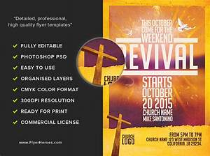 image gallery revival flyers With free church revival flyer template