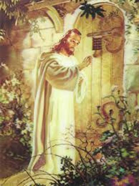 jesus knocking at the door painting sheep and goats christian church of orange