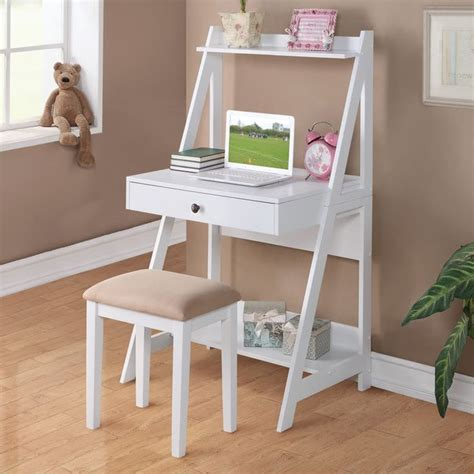 bedroom desk with drawers details about 2 pc white student small writing desk and