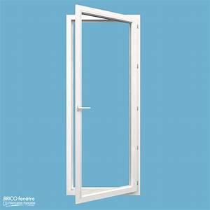 Porte fenetre pvc gamme confort a 1 vantail ouvrant a la for Porte d entrée pvc en utilisant fenetre alu standard