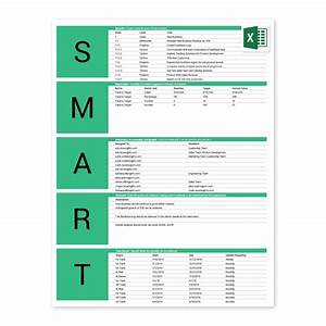 Free smart goals excel template for Goals and objectives template excel