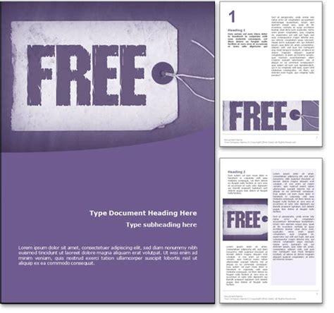 royalty   microsoft word template  purple