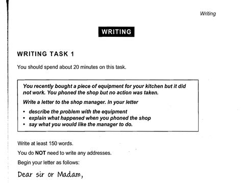 general training writing task  cambridge ielts book