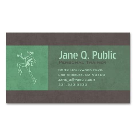 personal trainer business card bright  images