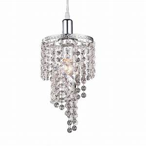 Z lite petite in chrome crystal mini pendant at