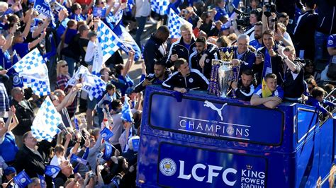 Leicester celebrate Premier League title with more than ...