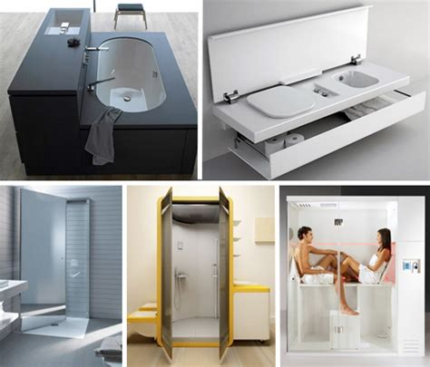 Small Space Design: 15 Fold Up All In One Bathrooms