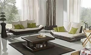 Décoration De Salon : table basse bambou wenge avec coffre bar tao 2383 ~ Nature-et-papiers.com Idées de Décoration