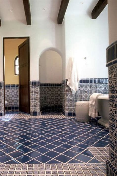 Navy Blue Tiles Bathroom by 37 Navy Blue Bathroom Floor Tiles Ideas And Pictures 2019