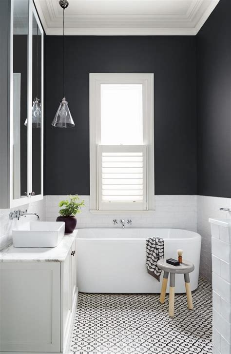 melbourne black and white tile bathroom contemporary with