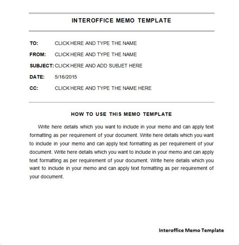 interoffice memo template   word  documents