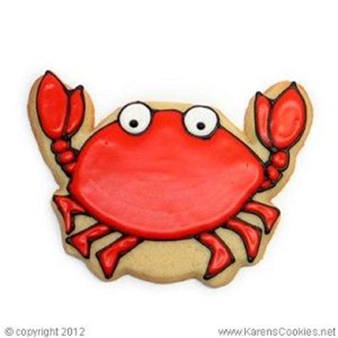 animal crab cookies images  pinterest