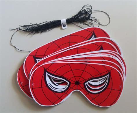 Kit 20 Máscaras Do Homem Aranha (vermelha Preta Ou Rosa