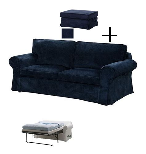 Ikea Ektorp Slipcovers For Sofa Bed And Footstool Vellinge