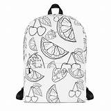 Backpack Colouring Coloring Adult Unique Backpacks Kind Lovers Bags sketch template