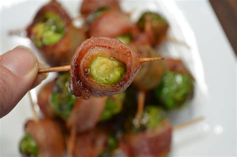 air sprouts brussels fryer bacon maple fried wrapped these glaze glazed