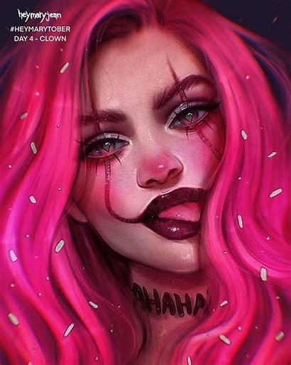 Clown Cartoon Marzia Palomba Dope Really Dibujos