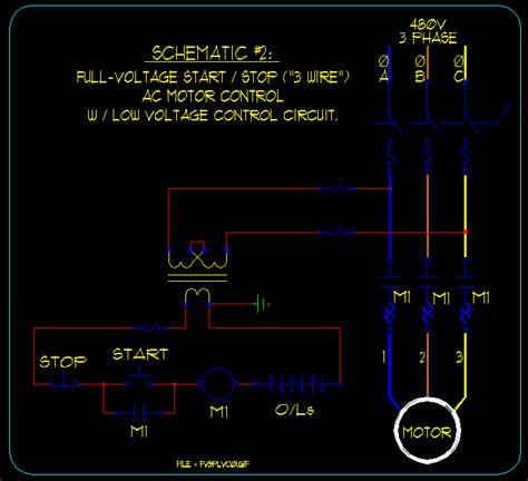 One Line Diagram 3 Wire Start Stop Station