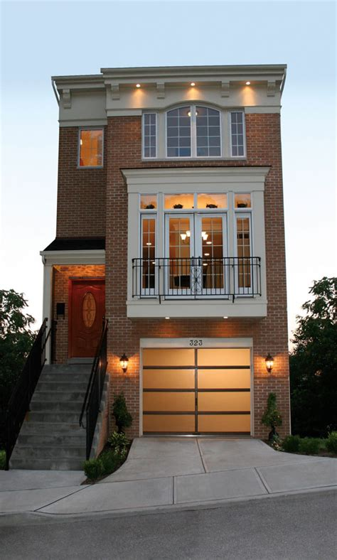 photos and inspiration modern row house plans what s new in garage door designs and materials