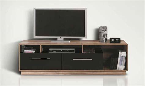 meuble tv bas meuble tele design noir  noyer pas cher
