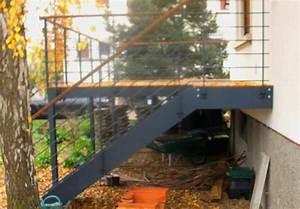 balcon terrasse metallique zimerfreicom idees de With terrasse sur pilotis metal