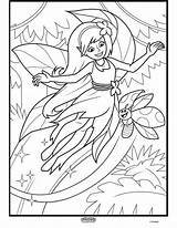 Coloring Crayola Forest Fairy Alive Enchanted Quiver Rainforest Colour Wars Colouring Printable App Giant Fair Adult Layers Creatures Sheets Halloween sketch template