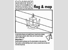 Brunei Flag and Map crayolacouk