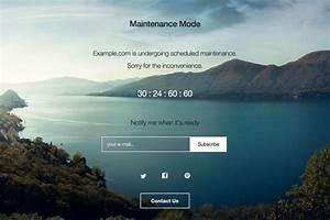 Wp maintenance mode wordpress plugins for Wordpress splash page template