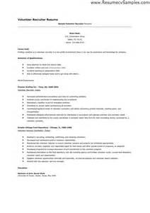 resume that includes volunteer work volunteer resume sles experience resumes