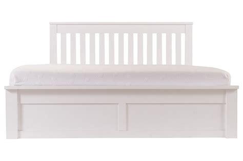 White Ottoman Bed Frame gfw como 5ft king size white ottoman lift wooden bed frame