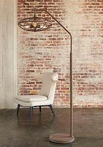 1000 ideas about arc floor lamps on pinterest floor With industrial cage 3 light arc rust floor lamp