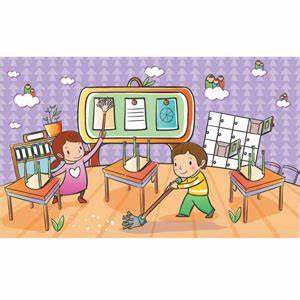 Clean up classroom clipart collection