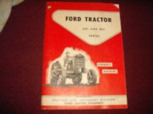 vintage ford tractor    series owners manual