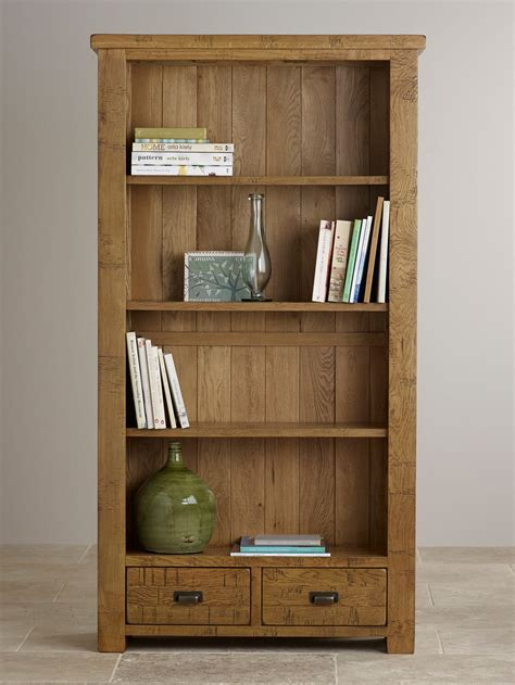 solid oak bookcases in seven sizes ripley rough sawn solid oak tall bookcase home office