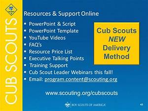 cub scouts new delivery method ppt video online download With boy scout powerpoint template
