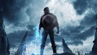 Captain America 4k Mjolnir Hammer Lightning Wallpapers