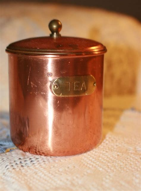 copper canisters kitchen lovely vintage copper kitchen tea cannister by