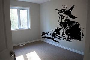 Yoda Star Wars Wall Decal Art Stencil from RespectPrinting on