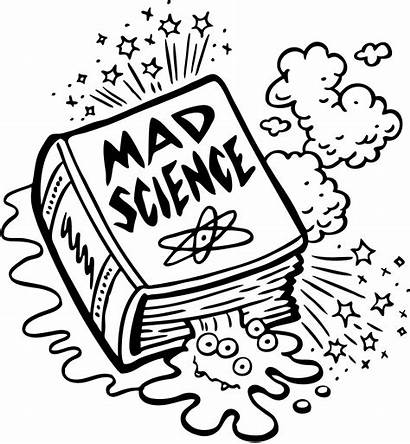Science Coloring Pages Mad Scientist Equipment Beaker