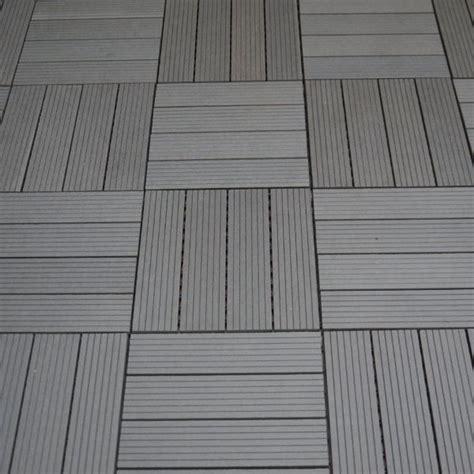 Wpc Balkonbodenfliesen Bambuskunststoff, Braun
