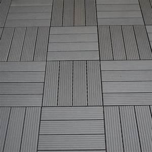 Wpc balkon bodenfliesen bambus kunststoff braun for Wpc terrassen fliesen