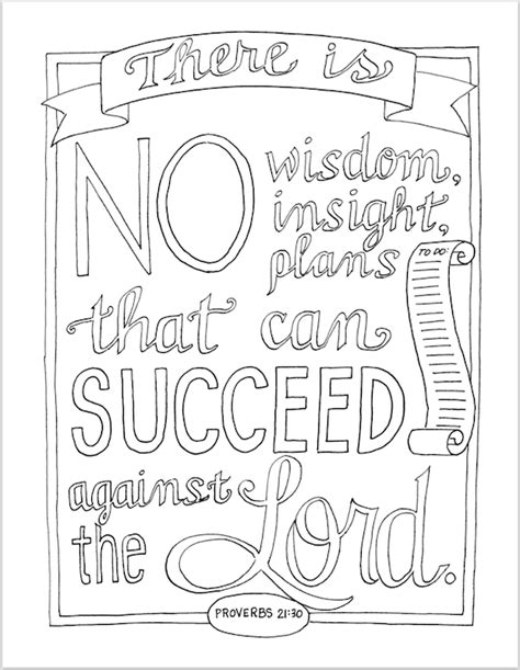 Plan for Success (Coloring Page) - Flanders Family Homelife