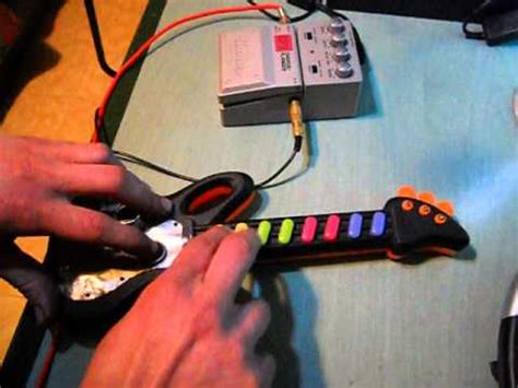 Circuit Bending Toy Guitar With Ibanez Pedal Effect Youtube