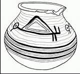 Coloring Pot Pottery Stunning Printable Getcolorings Getdrawings sketch template